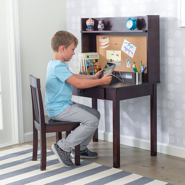 KidKraft Pinboard Desk with Hutch & Chair