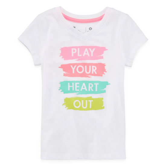 "Xersion Graphic Short Sleeve T-Shirt-Toddler Girls"" 2T-5T"