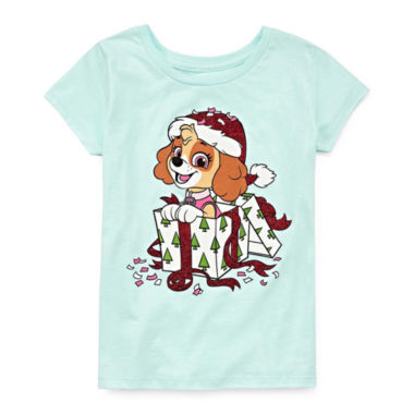 Paw Patrol Holiday Graphic T-Shirt- Girls' 7-16