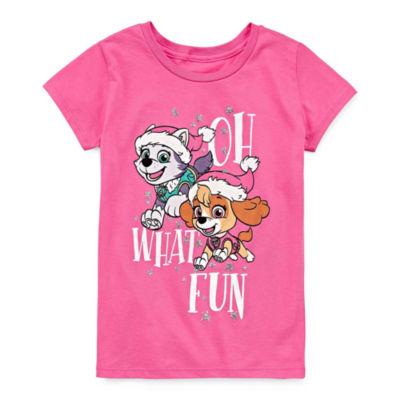 Paw Patrol Holiday Graphic T-Shirt- Girls' 7-16