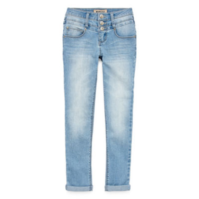 Squeeze Triple Stacked Waist Mini Cuff Skinny Jean - Big Girls