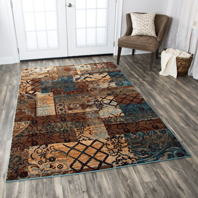 Rizzy Home Bellevue Collection Andrea Patchwork Rugs