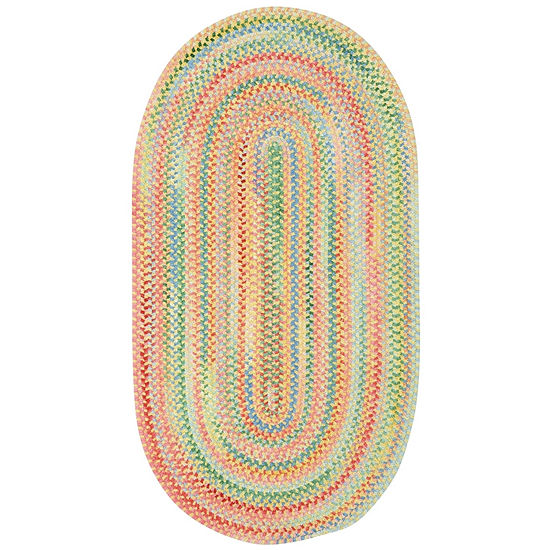 Capel Inc. Baby's Breath Concentric Braided Oval Rugs