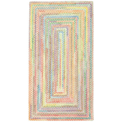 Capel Inc. Baby's Breath Concentric Braided Rectangular Rugs