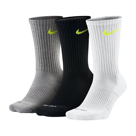 Nike 3 Pair Crew Socks Mens