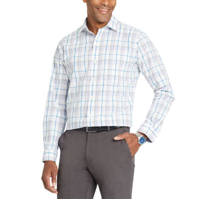 Van Heusen Long Sleeve Plaid Button-Front Shirt