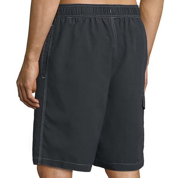St. John's Bay Solid Cargo Swim Shorts
