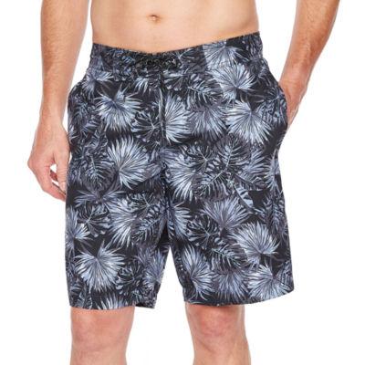 St. John's Bay Black Palm Swim Shorts
