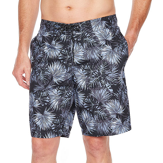 6a0eda9ad5 St Johns Bay Black Palm Swim Shorts JCPenney