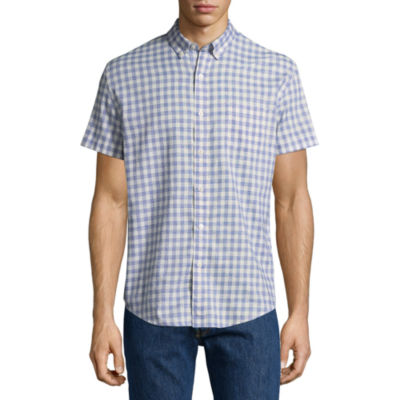 Arizona Short Sleeve Checked Button-Front Shirt