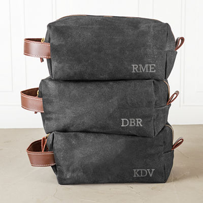DOPP® Cathy's Concepts Personalized Waxed Canvas and Leather Toiletry Bag