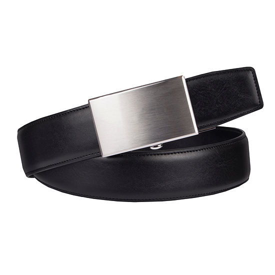 Exact Fit Mens Belt With Plaque Buckle