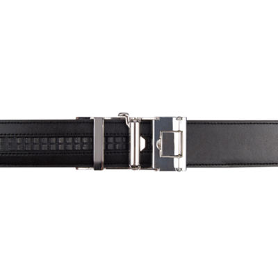 Exact Fit Men's Belt with Plaque Buckle