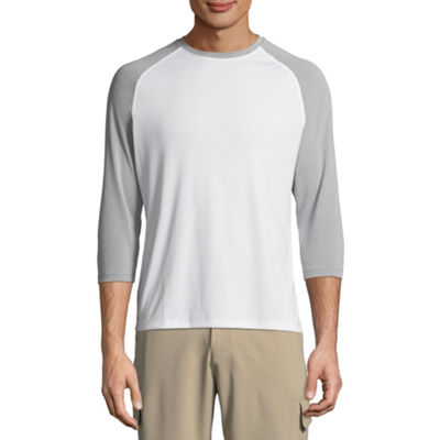 Hanes Sports 3/4 Sleeve Crew Neck T-Shirt