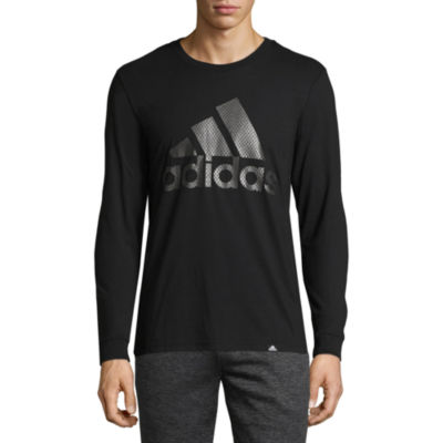 adidas Bos Metal Long Sleeve Crew Neck T-Shirt-Athletic