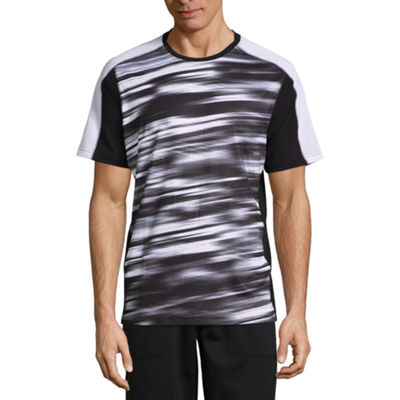 Xersion Soccer Panel Short Sleeve Crew Neck T-Shirt