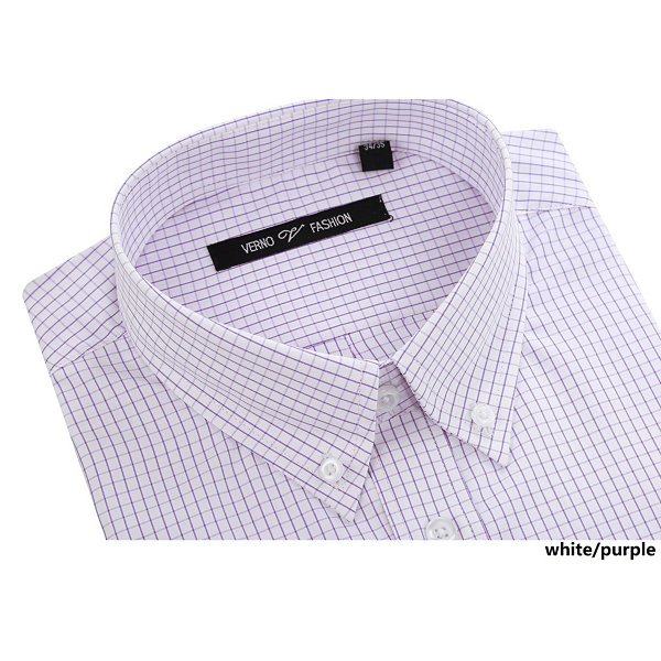 Verno Men's Slim Fit Dress Shirts