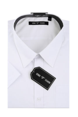 Verno Men's Classic Fit Short Sleeve Dress Shirt