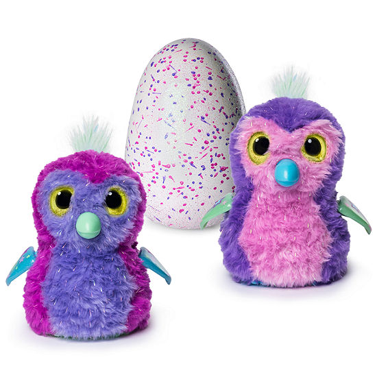 Hatchimals Glittering Garden Hatching Egg Interactive Creature – Sparkly Penguala By Spin Master