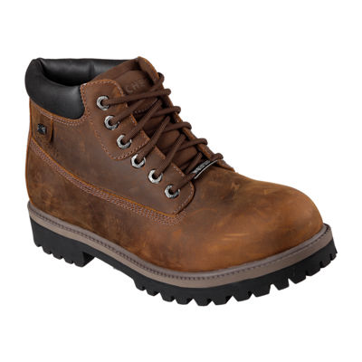 Skechers® Verdict Mens Waterproof Leather Work Boots