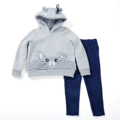 Love At First Sight Critter Hoodie 2-pc. Animal Legging Set