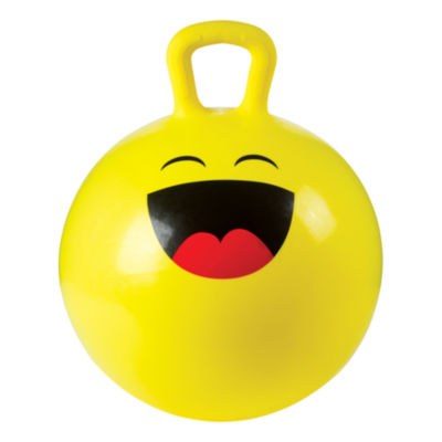 Toysmith 18In Emoji Hoppy Ball With Pump (Assorted Styles)