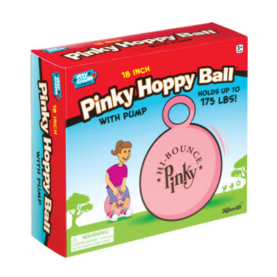 Toysmith 18In Pinky Hoppy Ball With Pump