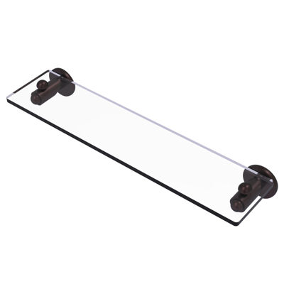 Allied Brass Soho Collection 22 IN Glass Vanity Shelf With Beveled Edges
