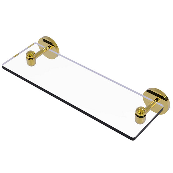 Allied Brass Tango Collection 16 IN Glass Vanity Shelf With Beveled Edges