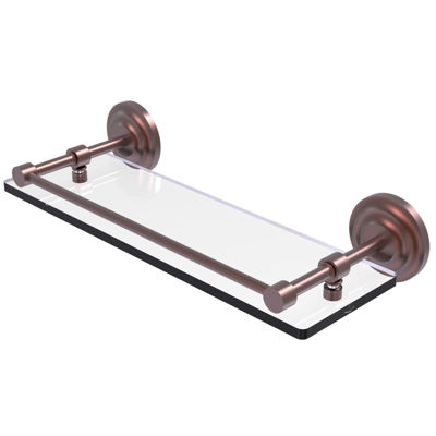Allied Brass Que New 16 IN Tempered Glass Shelf With Gallery Rail
