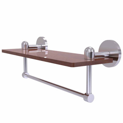 Allied Brass Tango Collection 16 IN Solid Ipe Ironwood Shelf With Integrated Towel Bar