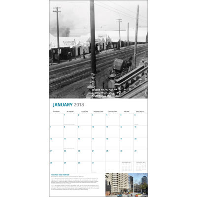 2018 Then and Now - Seattle Wall Calendar