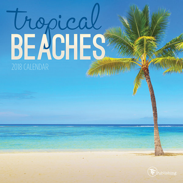 2018 Tropical Beaches Mini Calendar