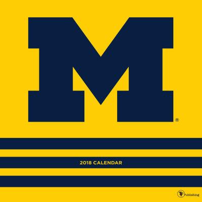 2018 University of Michigan Wall Calendar