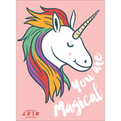 2018 Unicorn Monthly Planner