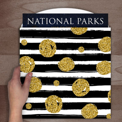 Black & Gold Calendar Wrap