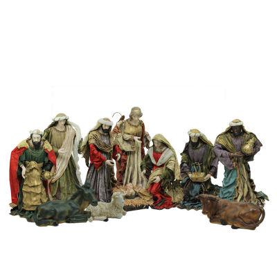 11-Piece Religious Outdoor Christmas Nativity Figurine Set 40