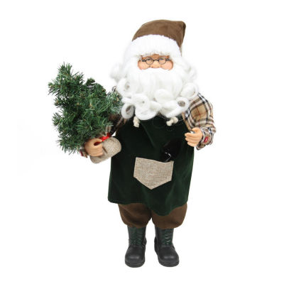 "18"" Gardening Santa Claus with Pine Tree ChristmasTabletop Decoration"""