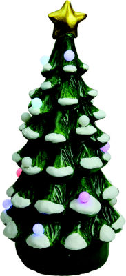 """18.25"""" Christmas Morning LED Lighted Musical Christmas Tree Tabletop Figure"""""""