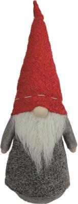 "11"" Christmas Morning Plush Red and Gray ChristmasGnome Tabletop Figure"""