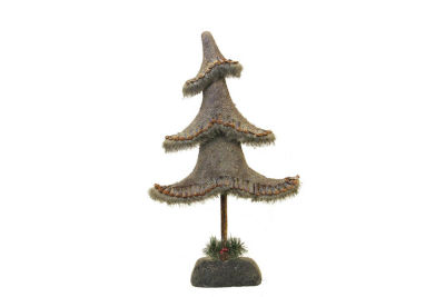 "23.5"" Glittered Country Rustic Tree Christmas Tabletop Decoration"""