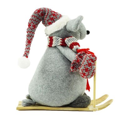 "14.75"" Adventurous Skiing Mouse Christmas TabletopDecoration"""