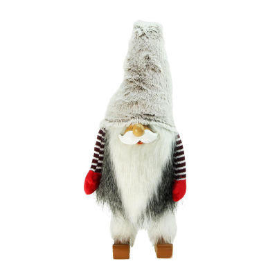 "29.5"" Plush and Fuzzy Bobble Nordic Santa Christmas Gnome Tabletop Figure"""
