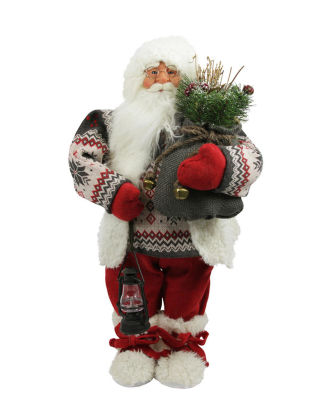 "24"" Alpine Chic Nordic Santa Claus Christmas TableTop Figure"""