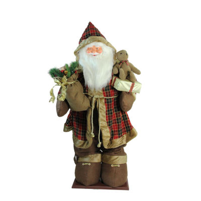 5' Life-Size Inflatable Musical Santa Claus Christmas Figure with Cool White LED Lights