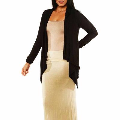 24/7 Comfort Apparel Women's Long Sleeve High-LowShrug