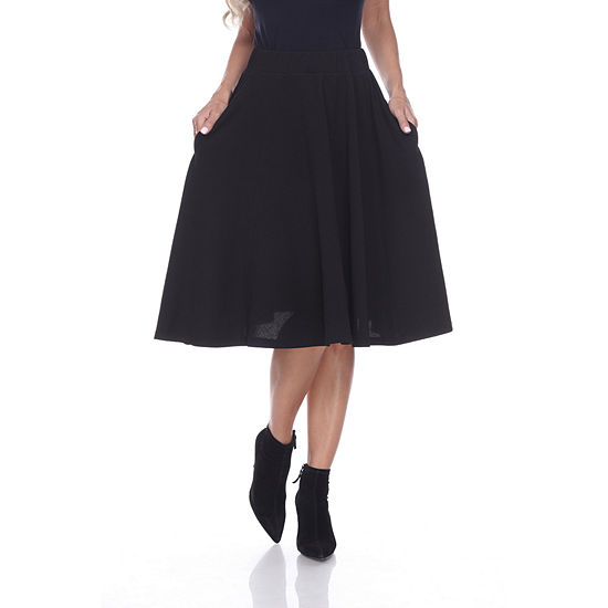White Mark 'Saya' Flare Skirt
