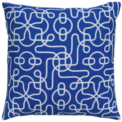 Rizzy Home Daniel Rolling Scroll Geometric Decorative Pillow