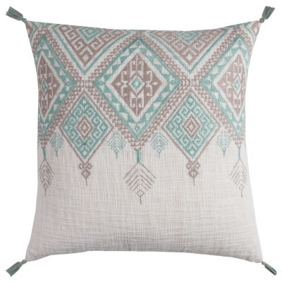 Rizzy Home Dylan Tribal Aztek With Tassels Decorative Pillow