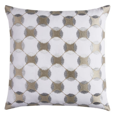 Rizzy Home Justin Geometric Embroidery Decorative Pillow